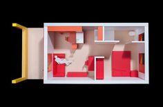 Single unit layout model, scale 1:25