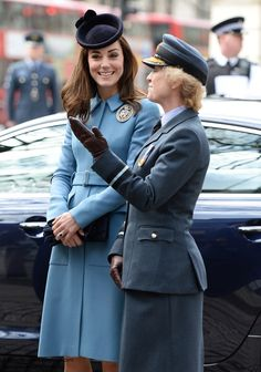 duchesskate:  The Duchess of Cambridge, Patron, attended the 75th anniversary of the RAF Air Cadets, St Clement Danes Church, London, February 7, 2016-the Duchess with Air Commodore Dawn McCafferty