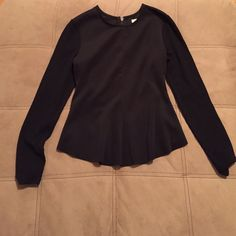 Silence + Noise black peplum top In great condition!! Perfect for work and nights out. silence + noise Tops