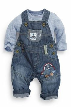 Denim Car Dungarees (0-18mths) (NEXT)