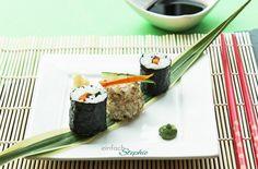 Veganes Sushi selbst machen - Rezepte und Ideen. Herzhafte Variante