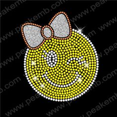 Lovely emoji Custom Rhinestone Transfers Wholesale Embellishment