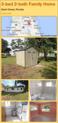 3-bed 2-bath Family Home in Saint Cloud, Florida ►$104,900 #PropertyForSale #RealEstate #Florida http://florida-magic.com/properties/77926-family-home-for-sale-in-saint-cloud-florida-with-3-bedroom-2-bathroom