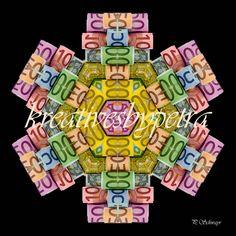 Mandala ''Geld''  kreativesbypetra  #mandala #mandalas #mandalaart #mandalastyle #inspiration #innereruhe #spirit #geld #money Mandala Art, Petra, Mandalas, Mosaics, Money, Canvas