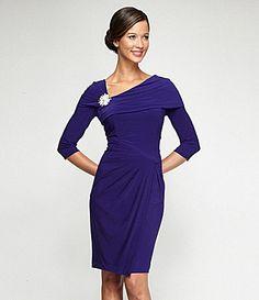 0a69d7c6b48 Alex Evenings RhinestoneBrooch Gown  Dillards Lovely Dresses