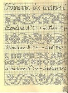 "Photo from album ""Bordure"" on Yandex. Cross Stitch Borders, Cross Stitch Flowers, Cross Stitch Kits, Cross Stitch Charts, Cross Stitch Designs, Cross Stitch Embroidery, Cross Stitch Patterns, Tapestry Crochet Patterns, Fair Isle Knitting Patterns"