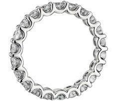 U-Prong Eternity Diamond Ring in Platinum ct. Eternity Ring Diamond, Eternity Bands, Engagement Ring Settings, Engagement Rings, Blue Nile, Ring Designs, Round Diamonds, Wedding Rings, Shallow