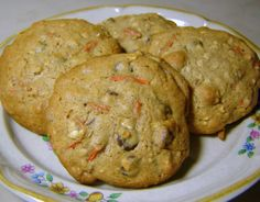 Oatmeal Chocolate Chip Carrot Cookies