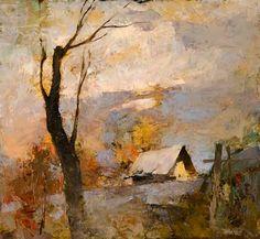 """Biography: Alexander Zavarin. I paesaggi del pittore russo Alexander Zavarin sono abilmente """"scolpiti"""" nell'insieme, mentre le mac..."""