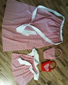 Mutter / Tochter Kombination, Schürzen und Taschen, Handmade, Designed by Tilli