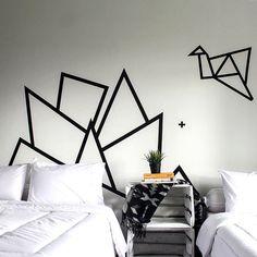 DIY Hiasan Dinding Kamar Tidur Dari Selotip