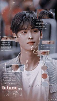 Cha Eunwoo's / Lee Dongmin's Anatomy By Jinxoo Jin Hot Korean Guys, Cute Asian Guys, Cha Eunwoo Astro, Astro Wallpaper, Handsome Korean Actors, Stray Kids Seungmin, Lee Soo, Kids Icon, Cute Actors