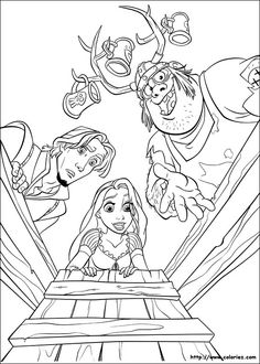 Free Walt Disney Tangled Coloring Pages For Kids
