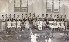 High School ROTC Cadet Corps and their Sponsors of Camarines Sur High School, Ragay in 1938 Sourced from the Veluz Family. Filipino Art, Rotc, Class Pictures, Asian History, Pinoy, Over The Years, High School, Photo Wall, Frame