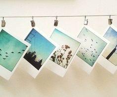 Polaroid decor/ decoration. For more polaroid inspiration, check out my polaroid blog, www.celobean.com!