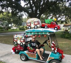 Christmas Golf Cart Decorations