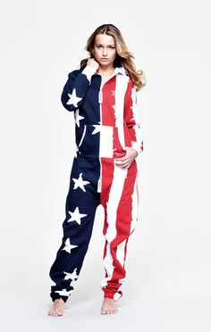 6b448b63de OnePiece USA Stars and Stripes - Womens I NEED THIS Striped Jumpsuit