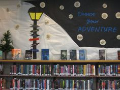 Winter Teen Display @Coopersville Area District Library. Made by me.