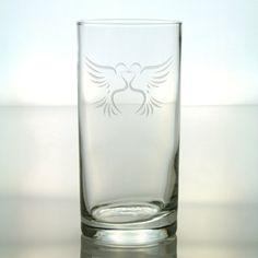 Double Doves Heart Design    Cooler/Tumbler by GlassIslandDesigns, $17.00