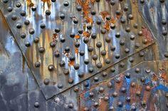Steel bridge rivets = beautiful studs on sandals. #JCrew #MyShoeStory