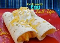 Kid Friendly Egg Roll-Ups are the perfect breakfast.  Kids love the roll-ups!