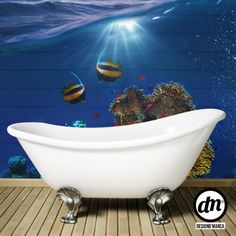 Uauu! I can have the deep sea in my bathroom! With DesignD'Marca you can have this or other image you choose - Customize with us - www.designdmarca.com #designdmarca #vinyl #print #homewrapping #homedecor