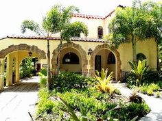 flordian spanish style homes | ... Beach Vacation Rentals - Sunset House - 1920's South Florida Elegance