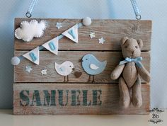 Name sign for bsby Felt Crafts, Diy And Crafts, Do It Yourself Baby, Baby Party, Baby Decor, Diy For Kids, Baby Room, Baby Gifts, New Baby Products