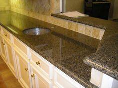 Granite Countertops Costco Price : tropic brown granite in a white kitchen more brown granite kitchen ...
