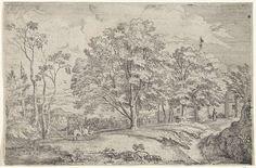 Frans Wouters   Landschap met links een ruiter met twee paarden, Frans Wouters, 1649  