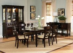 Enlarge Image Manufacturer Details View Entire Collection Finish the Room Tuxedo Park Rectangular Leg Table Dining Room Set - Dark Chocolate Manufacturer: Wynwood Furniture, Tuxedo Park Collection Extension Dining Table, Wynwood Furniture, Dining Table In Kitchen, Modern Dining Table, Dining Furniture Sets, Formal Dining Room Sets, Casual Dining Table, Dining Table Legs, Dining Room Sets