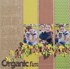 #papercraft #scrapbook #layout.  scrapbook inspiration: fall layout and textured leaves