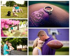 Football themed engagement session at ECU Stadium. Photos by Hartman Outdoor Photography, Raleigh Wedding photographers. www.hartmanoutdoorphotography.com