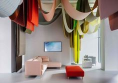 """Milan mood board: Vogue Living's edit of what we'll be decorating with next: Herman Miller and Maharam present """"Chromotography: The Colour World of Scholten & Baijings"""" at Herman Miller in Milan. Enquiries to Living Edge."""