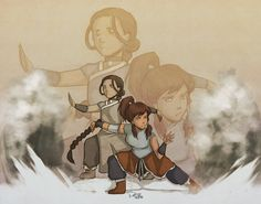 ATLA/LOK: Waterbenders by Do0dlebugdebz.deviantart.com on @deviantART Avatar Aang, Avatar The Last Airbender, Earth Air Fire Water, Avatar World, Water Tribe, Good To See You, Korrasami, Fire Nation, Air Bender