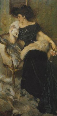 Ettore Tito - La signora Pellegrini - 1910