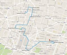 secret passages of paris - map