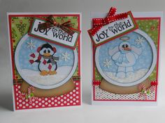 PAPER PIECING MEMORIES BY BABS: Snow Globe Shaker Cards
