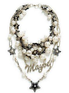 collar perlas estilo rock grunge moda otono-invierno 2013-14 zara clon ysl