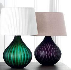 Oka - Leflaive glass table lamps