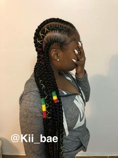 Top 60 All the Rage Looks with Long Box Braids - Hairstyles Trends Box Braids Hairstyles, My Hairstyle, Protective Hairstyles, Girl Hairstyles, Protective Styles, Hairdos, Black Girl Braids, Braids For Black Hair, Girls Braids