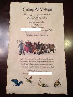 How to Train Your Dragon Invite by LoveYourInvites on Etsy
