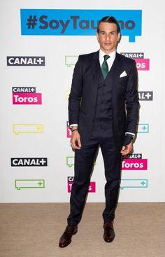 Jose Maria Manzanares wearing Dolce&Gabbana to attend Canal + Bullfights new season presentation in Madrid.