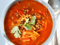 Curry lentil soup. Click for tried-and-tested recipe.