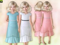 Dress with Cute Flowers by lillka - Sims 3 Downloads CC Caboodle