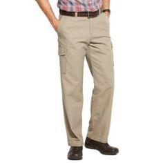 Croft & Barrow Canvas Flat-Front Cargo Pants - Men