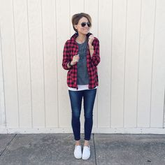 i need more flannel in my life feminine flannel flannel outfit idea