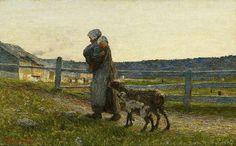 Giovanni Segantini.(Las dos Madres).1891