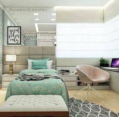 """409 Likes, 7 Comments - Sabendo DECOR (@sabendodecor) on Instagram: """"Inspiração de quarto para menina. Bem organizado e projetado Por @lucianamacedo.arquitetura"""""""