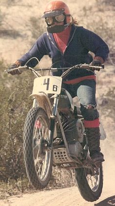 Vintage Dirt Bikes - Pictured, 1969 Penton being ridden by a 12 year old girl about 1974